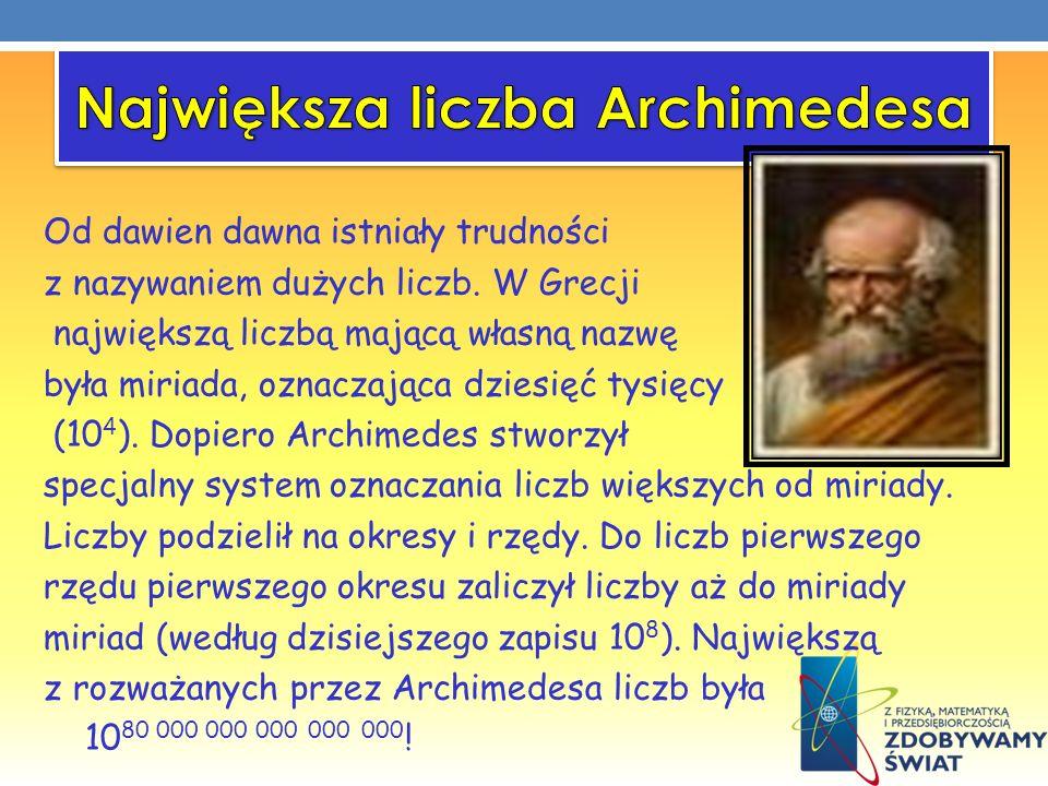 Największa liczba Archimedesa