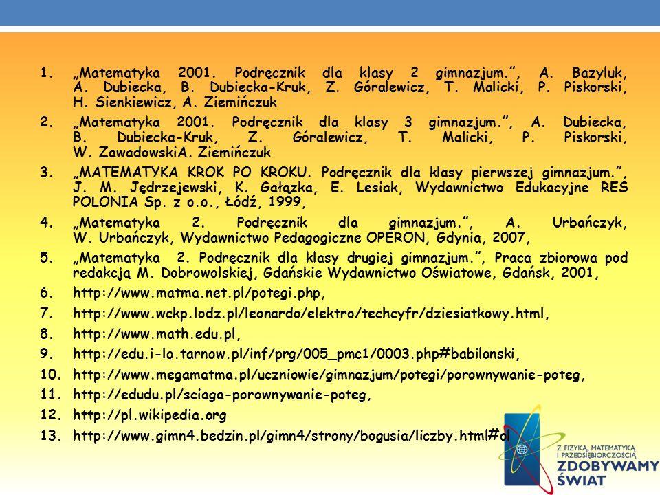 """""""Matematyka 2001. Podręcznik dla klasy 2 gimnazjum. , A. Bazyluk, A"""
