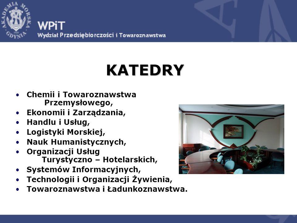 KATEDRY Chemii i Towaroznawstwa Przemysłowego, Ekonomii i Zarządzania,