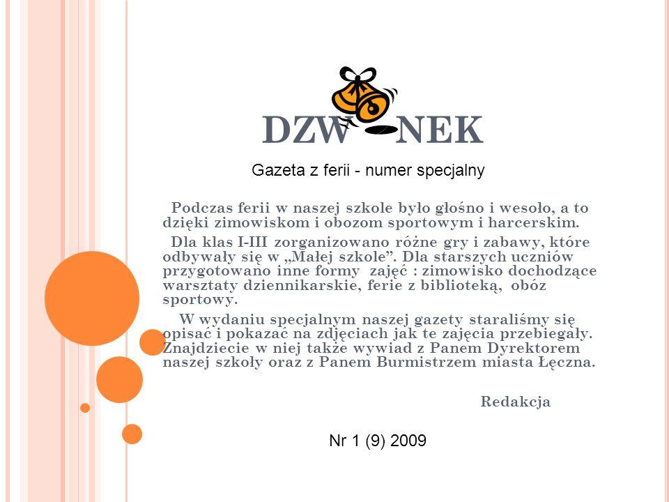 DZW NEK Gazeta z ferii - numer specjalny Nr 1 (9) 2009