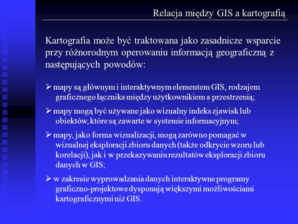 Relacja między GIS a kartografią