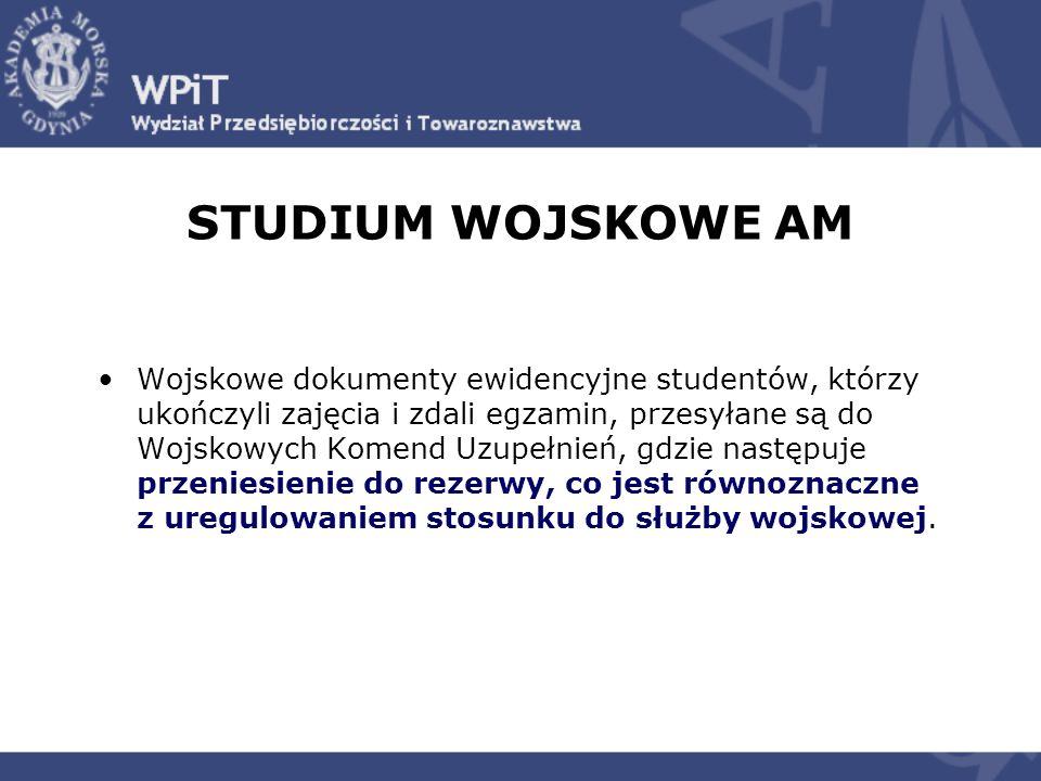 STUDIUM WOJSKOWE AM