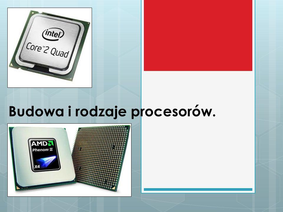 Budowa i rodzaje procesorów.