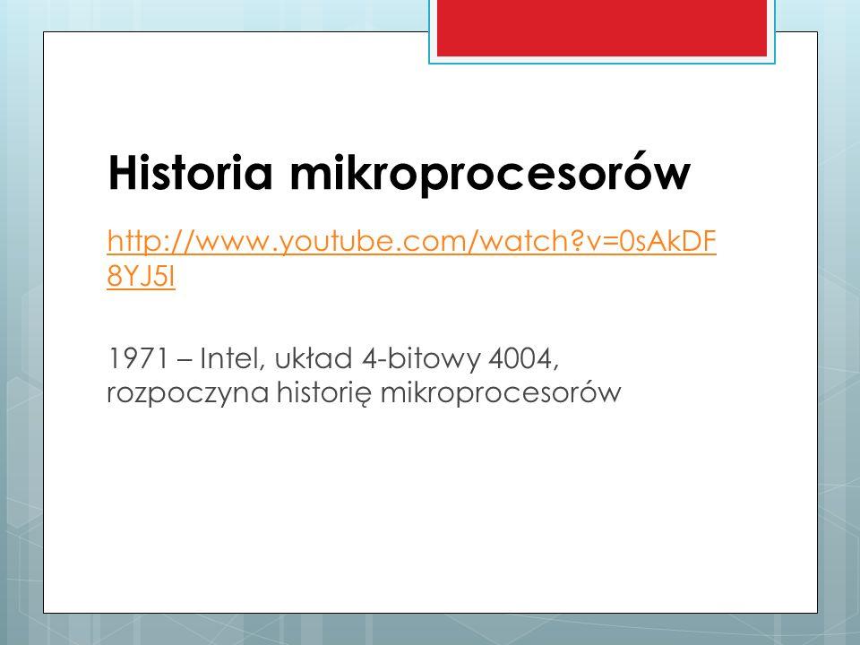 Historia mikroprocesorów
