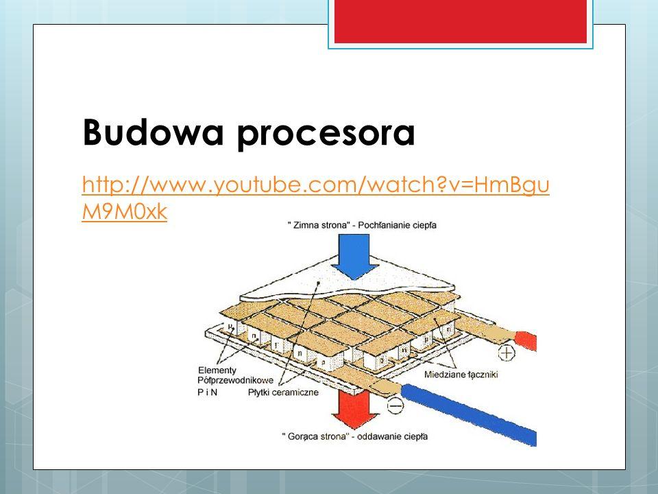 Budowa procesora http://www.youtube.com/watch v=HmBguM9M0xk