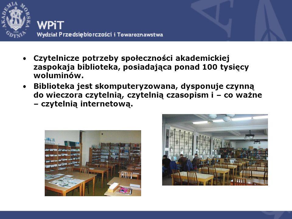 Czytelnicze potrzeby społeczności akademickiej zaspokaja biblioteka, posiadająca ponad 100 tysięcy woluminów.
