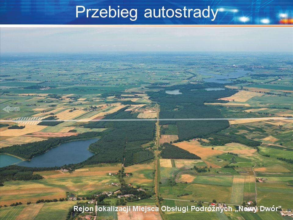 "Przebieg autostrady Localisation of the MOP ""Nowy Dwór"