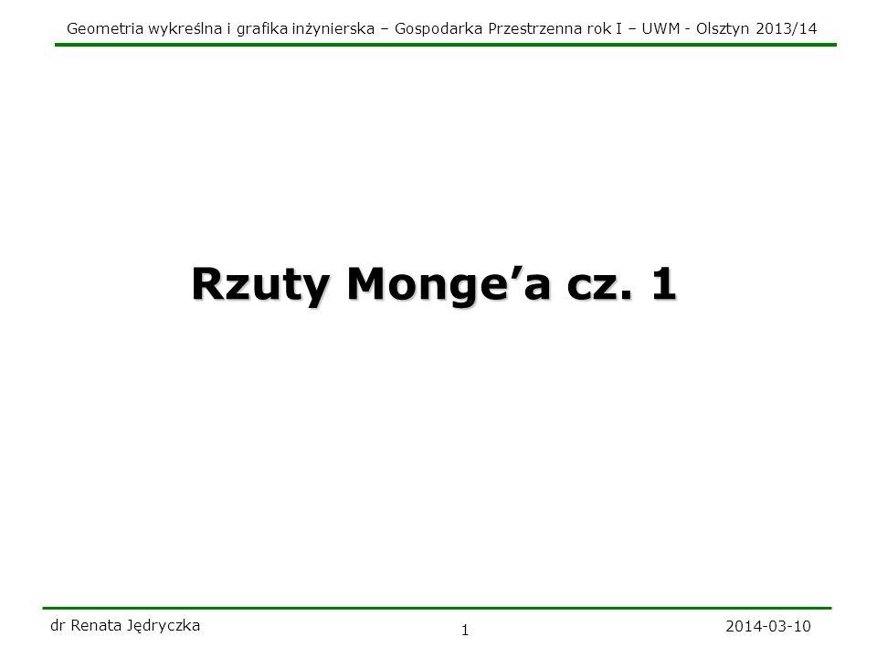 Rzuty Monge'a cz. 1 dr Renata Jędryczka 2017-03-28