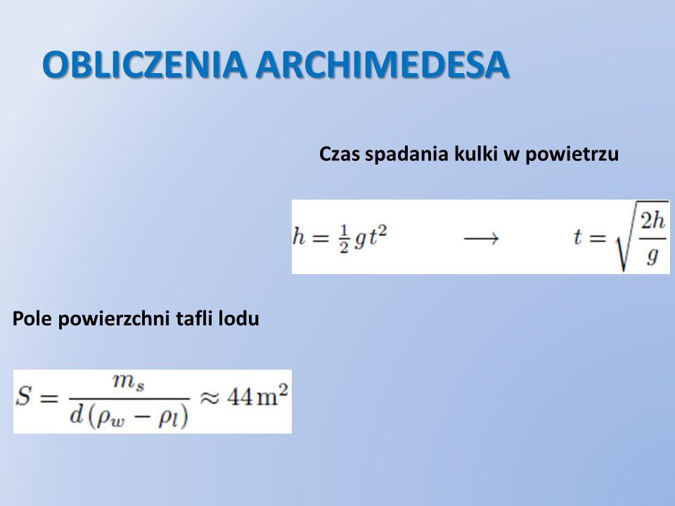 OBLICZENIA ARCHIMEDESA