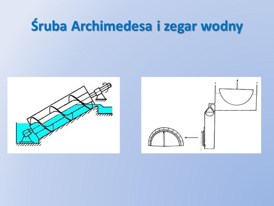 Śruba Archimedesa i zegar wodny
