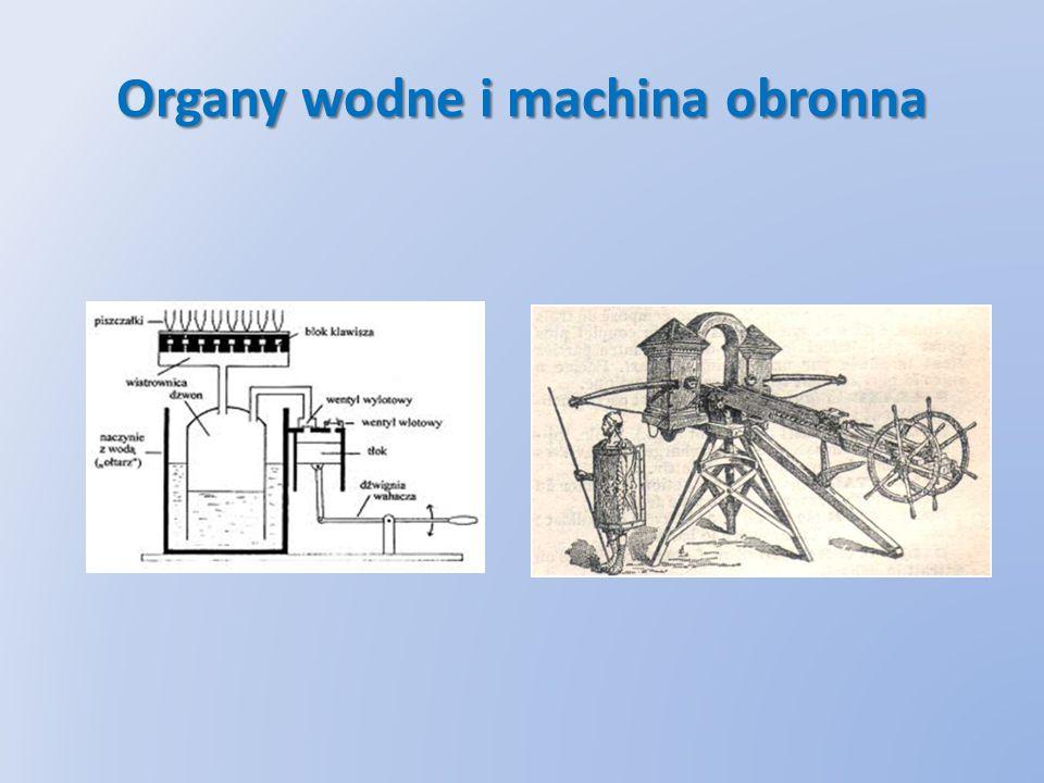 Organy wodne i machina obronna