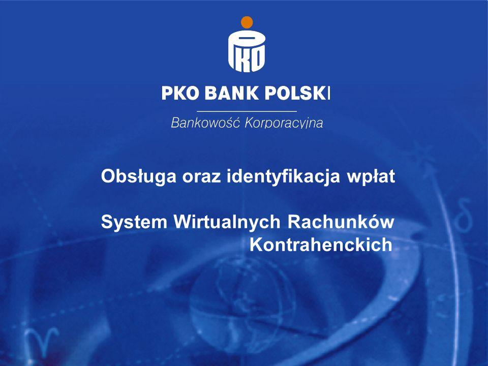 Obsługa oraz identyfikacja wpłat System Wirtualnych Rachunków