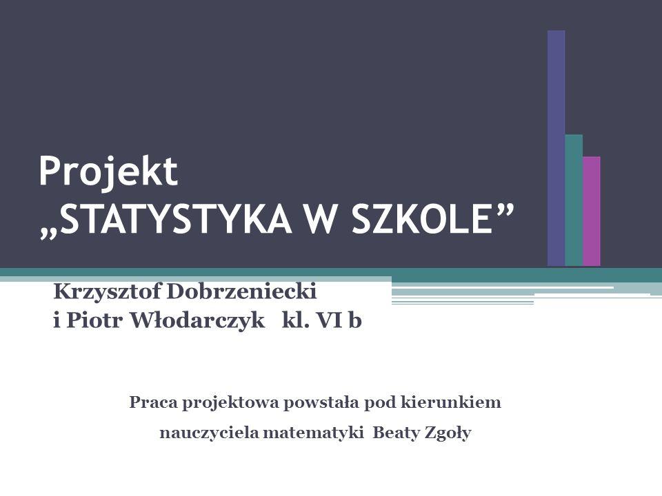 """Projekt """"STATYSTYKA W SZKOLE"""