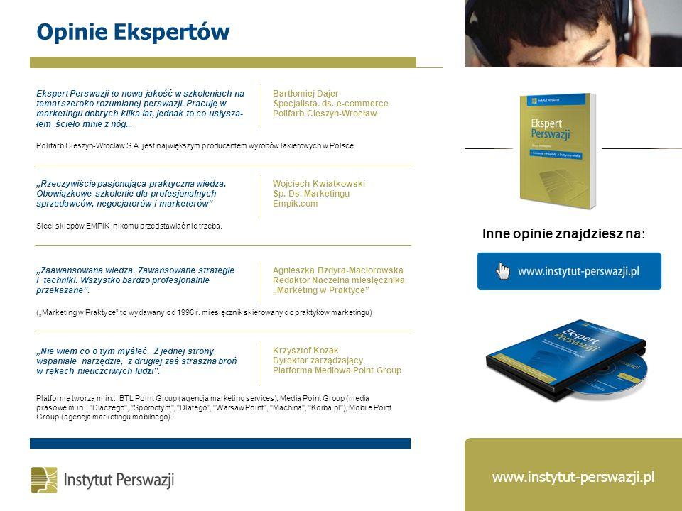 Opinie Ekspertów www.instytut-perswazji.pl Inne opinie znajdziesz na: