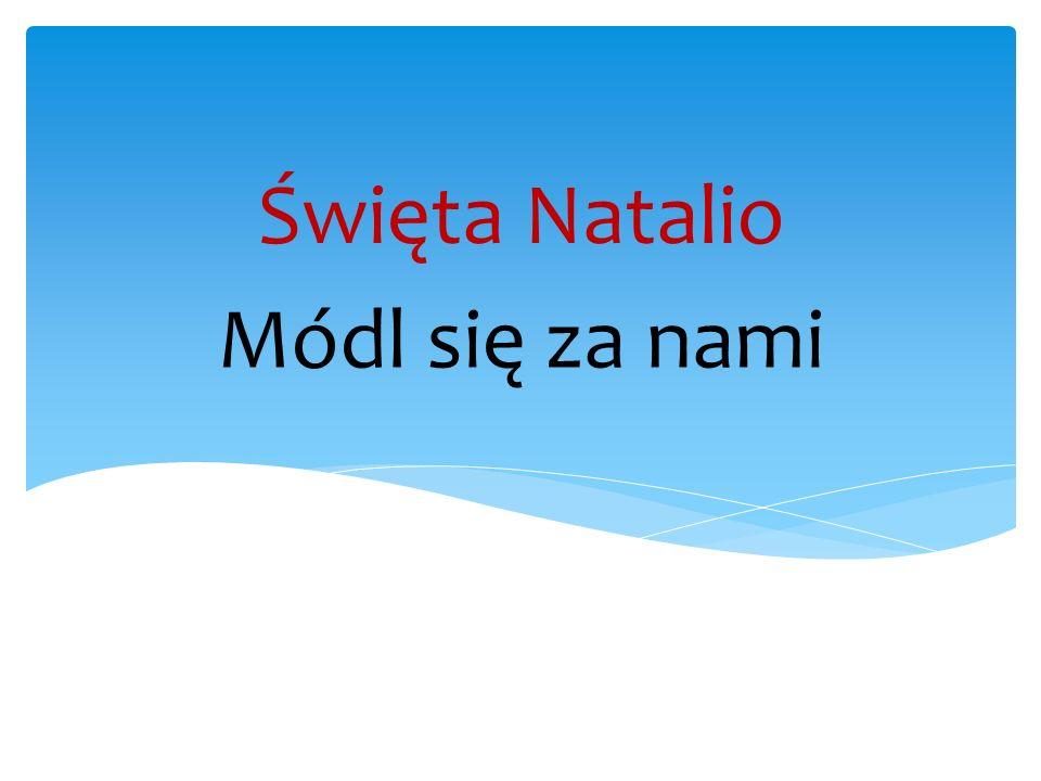 Święta Natalio Módl się za nami