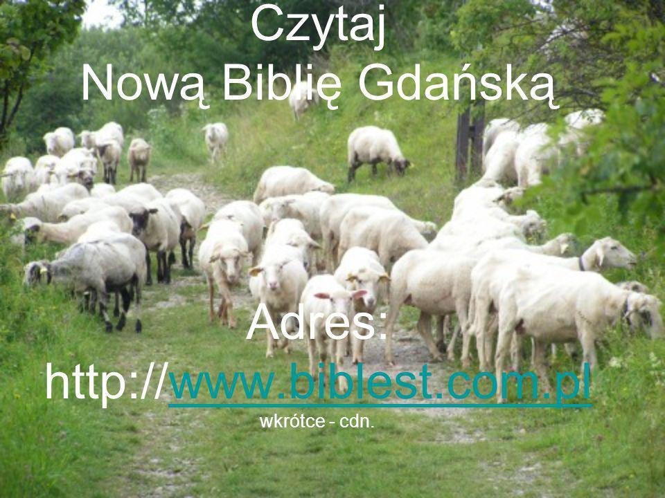 Czytaj Nową Biblię Gdańską Adres: http://www.biblest.com.pl