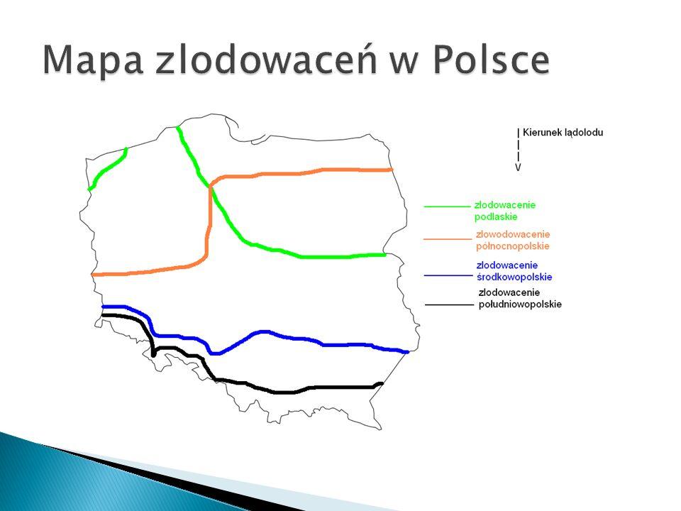 Mapa zlodowaceń w Polsce