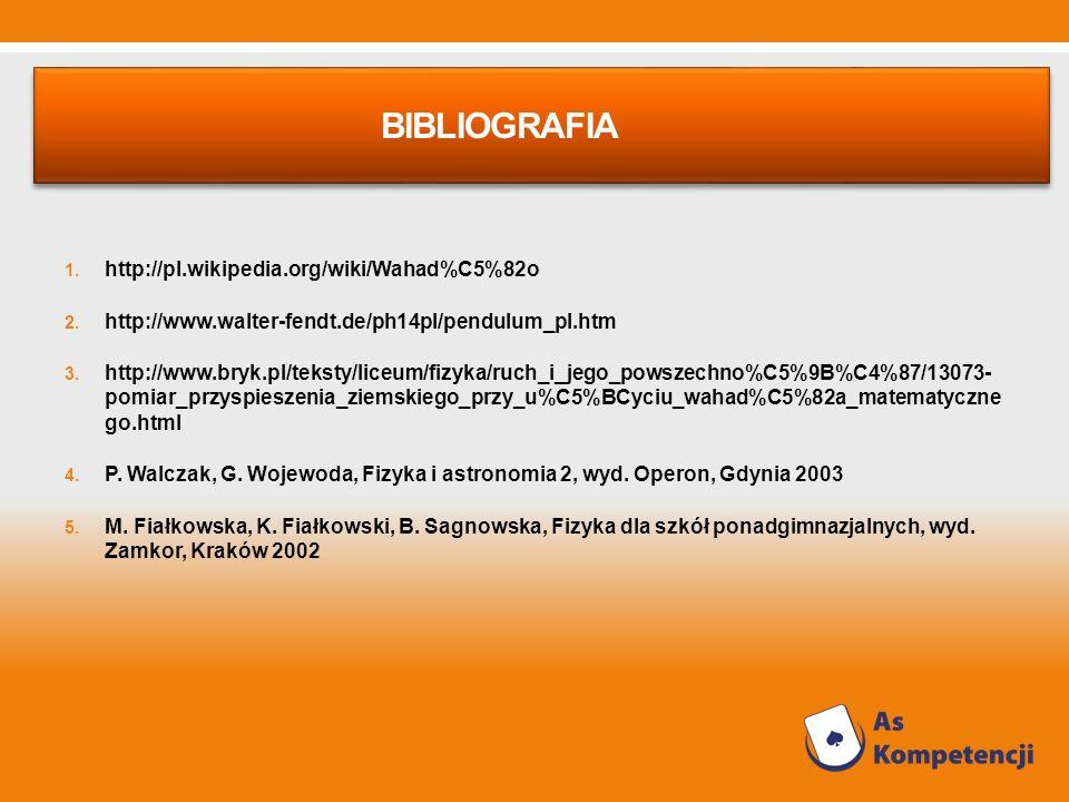 Bibliografia http://pl.wikipedia.org/wiki/Wahad%C5%82o