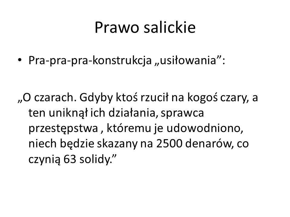"""Prawo salickie Pra-pra-pra-konstrukcja """"usiłowania :"""