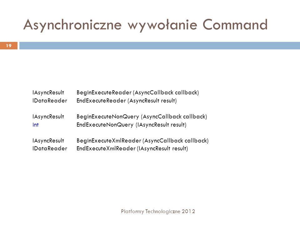 Asynchroniczne wywołanie Command
