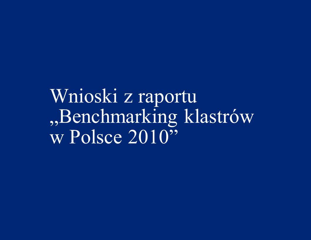 """Wnioski z raportu """"Benchmarking klastrów w Polsce 2010"""
