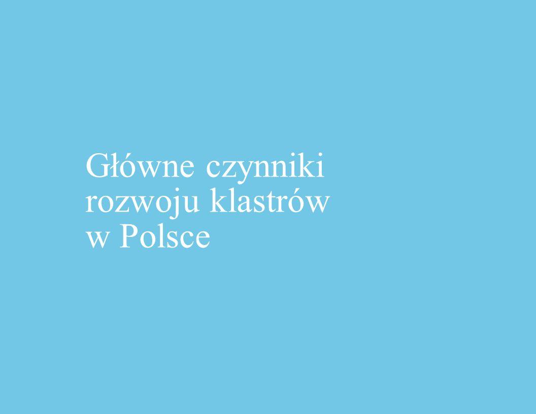 Główne czynniki rozwoju klastrów w Polsce