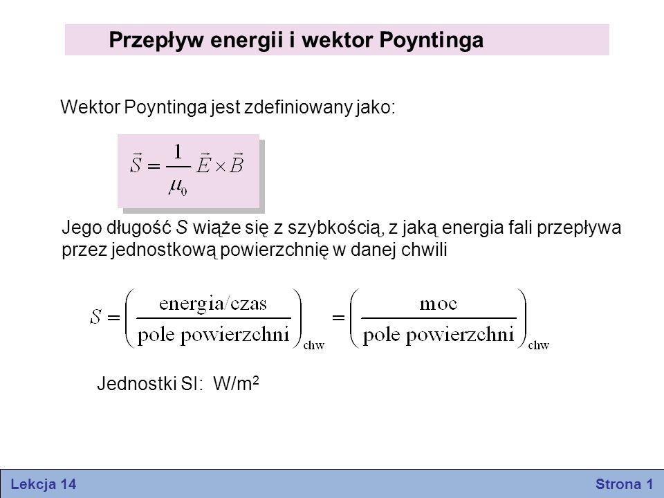 Przepływ energii i wektor Poyntinga