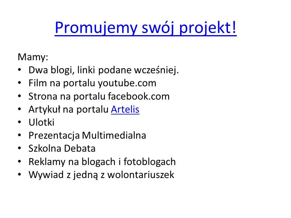 Promujemy swój projekt!