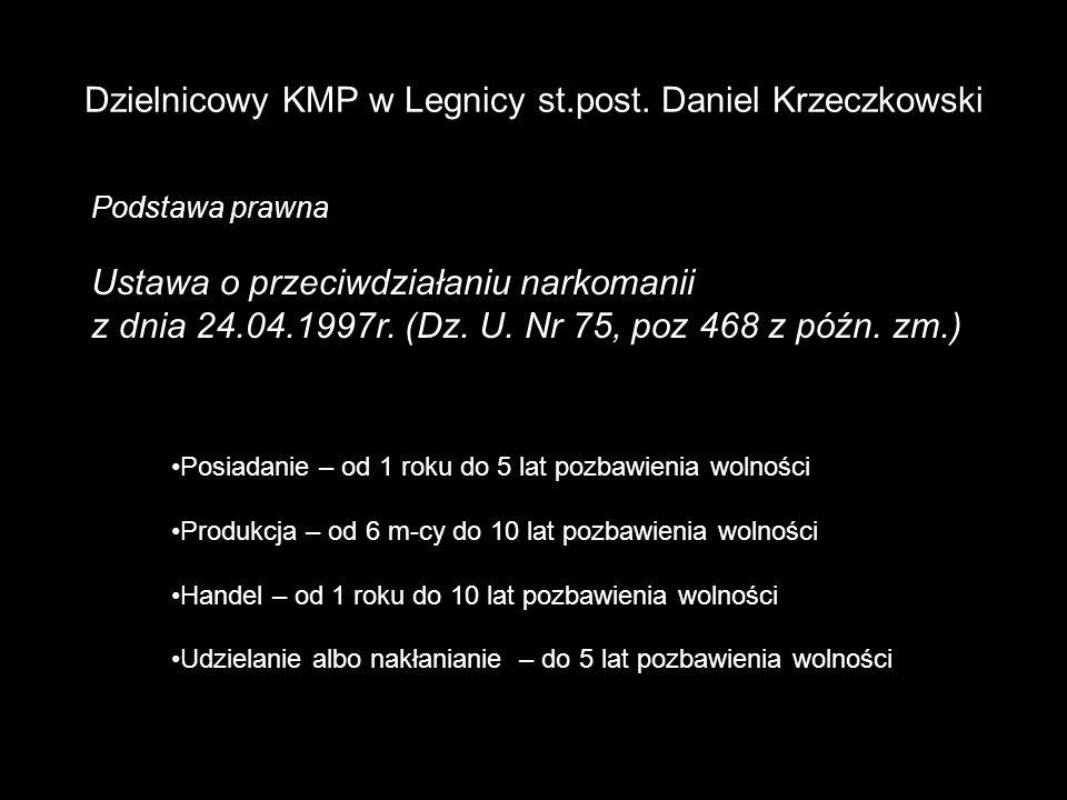 Dzielnicowy KMP w Legnicy st.post. Daniel Krzeczkowski