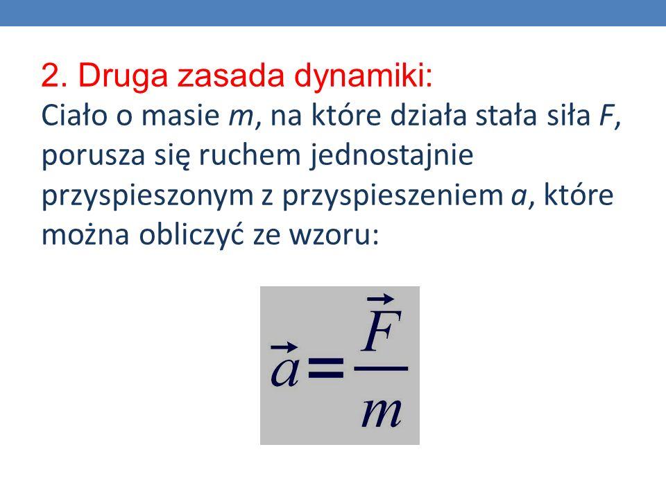 2. Druga zasada dynamiki: