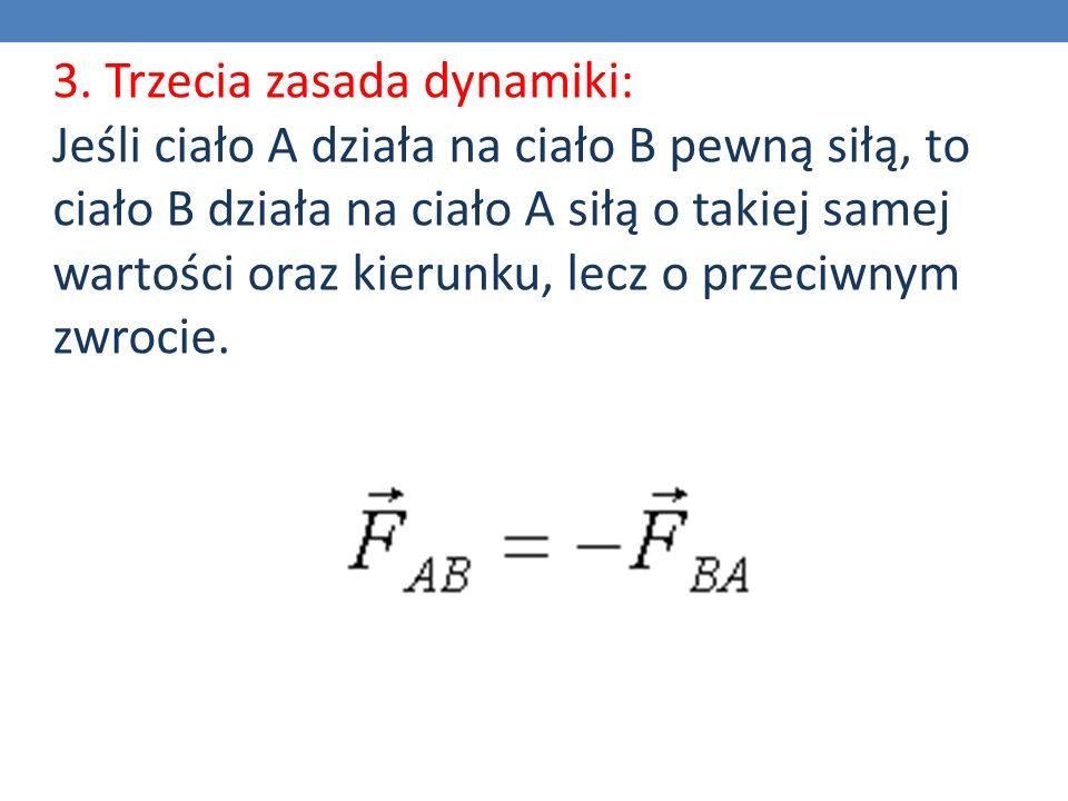 3. Trzecia zasada dynamiki: