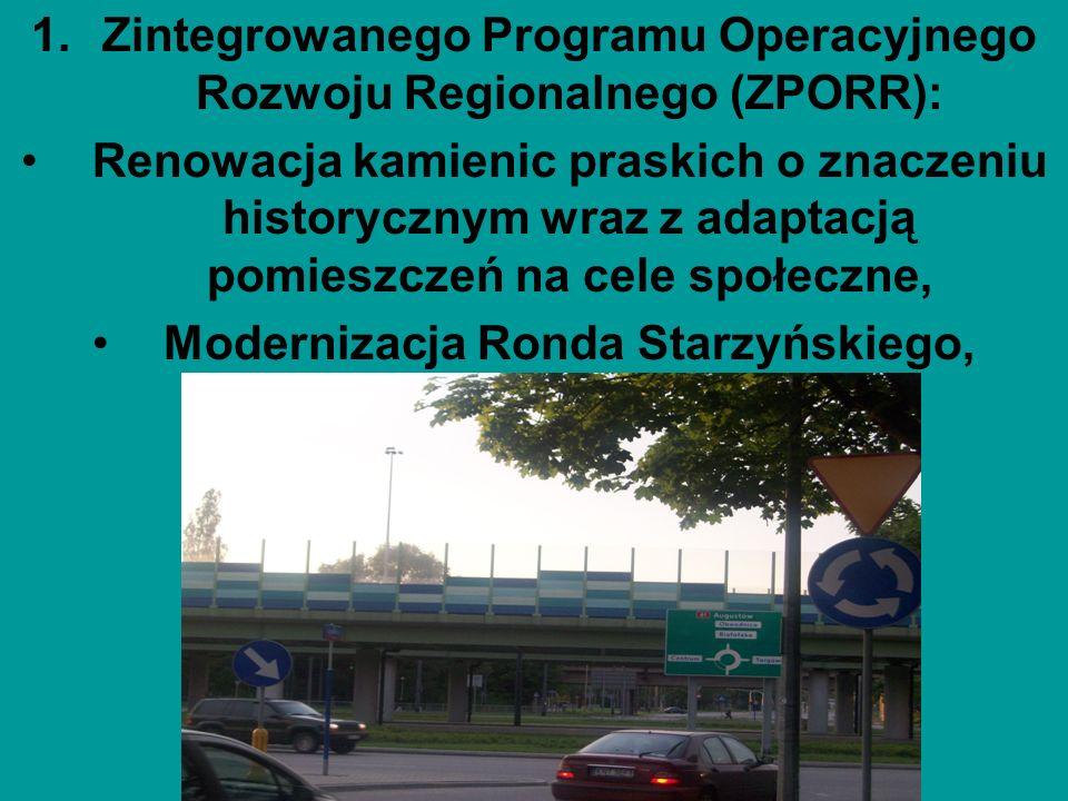 Zintegrowanego Programu Operacyjnego Rozwoju Regionalnego (ZPORR):