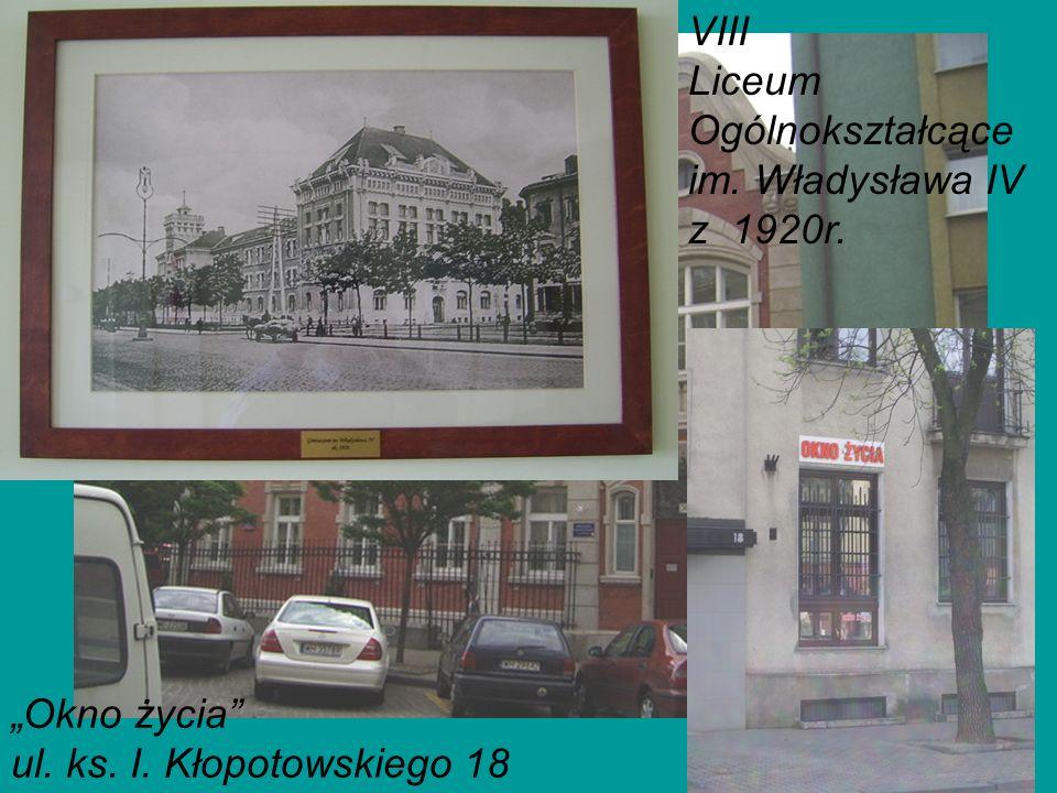VIII Liceum Ogólnokształcące im. Władysława IV z 1920r.