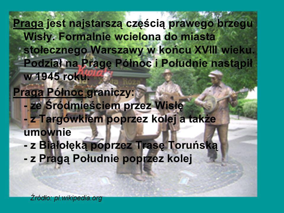 Praga jest najstarszą częścią prawego brzegu Wisły