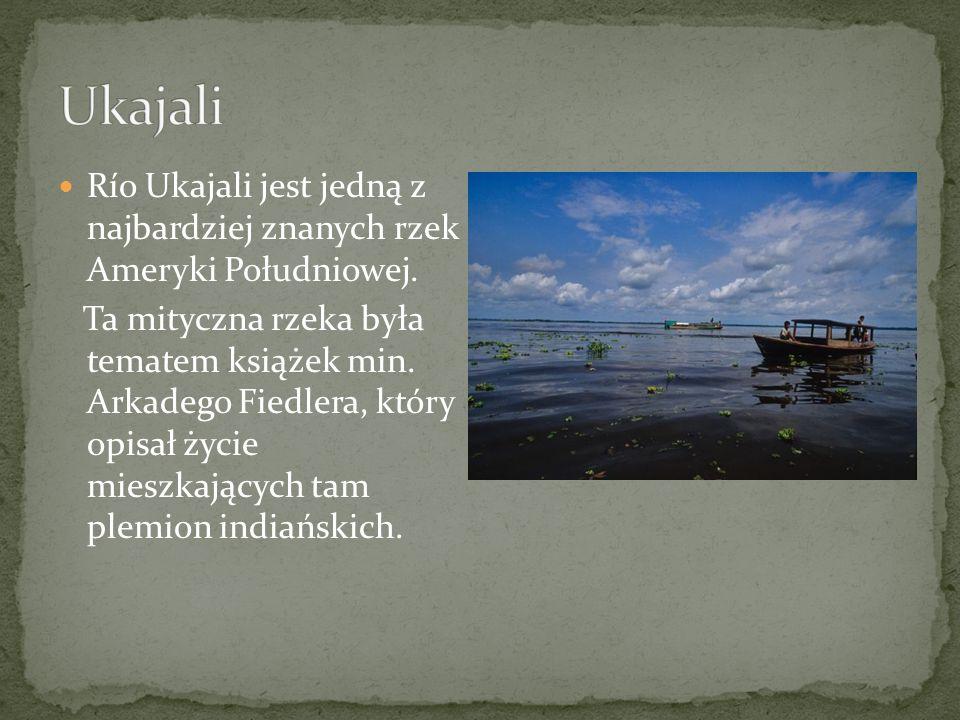 Ukajali Río Ukajali jest jedną z najbardziej znanych rzek Ameryki Południowej.