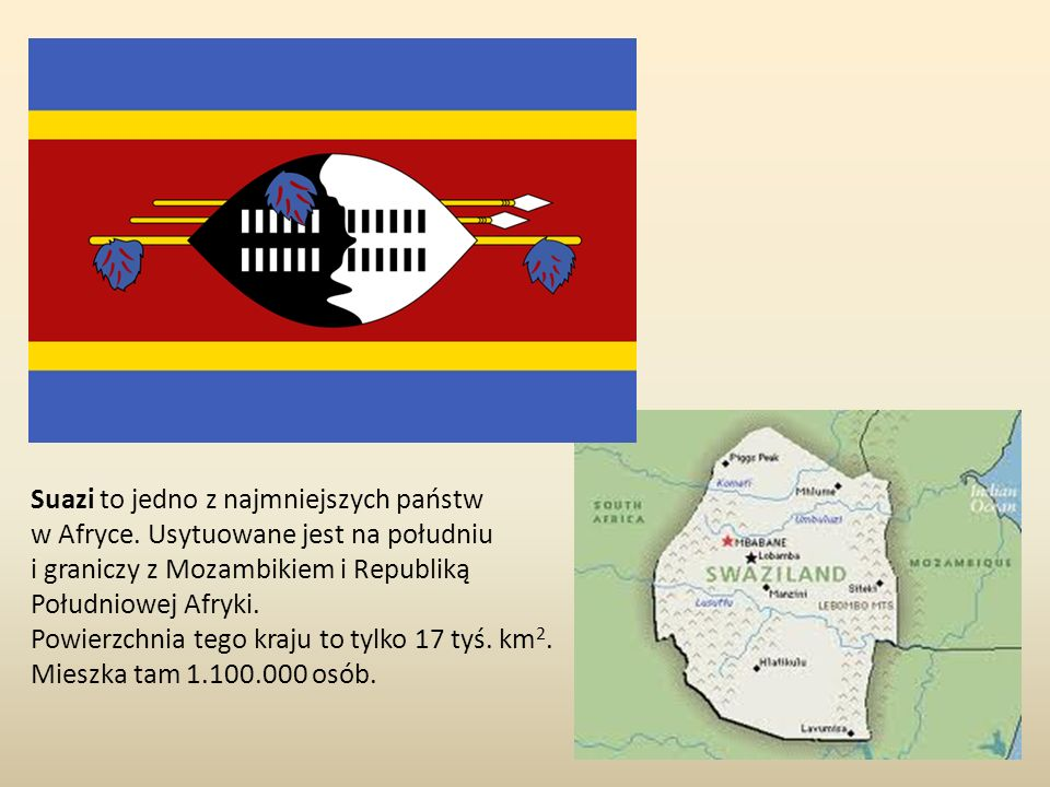 Suazi to jedno z najmniejszych państw