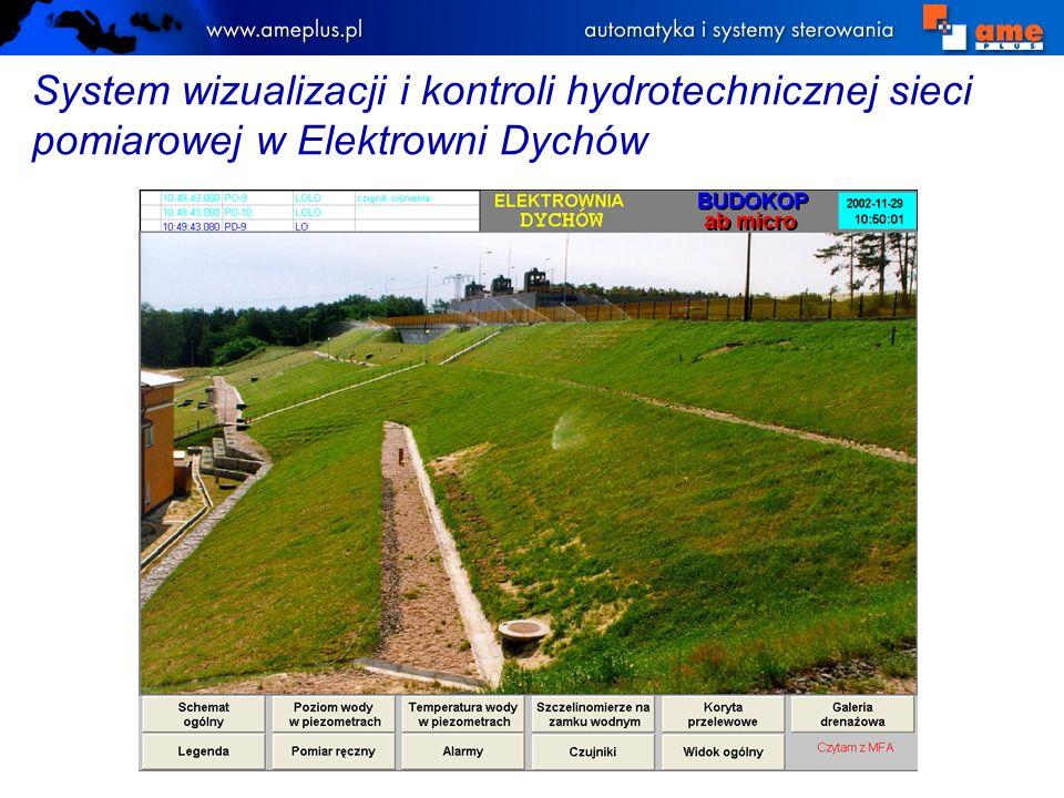 System wizualizacji i kontroli hydrotechnicznej sieci pomiarowej w Elektrowni Dychów