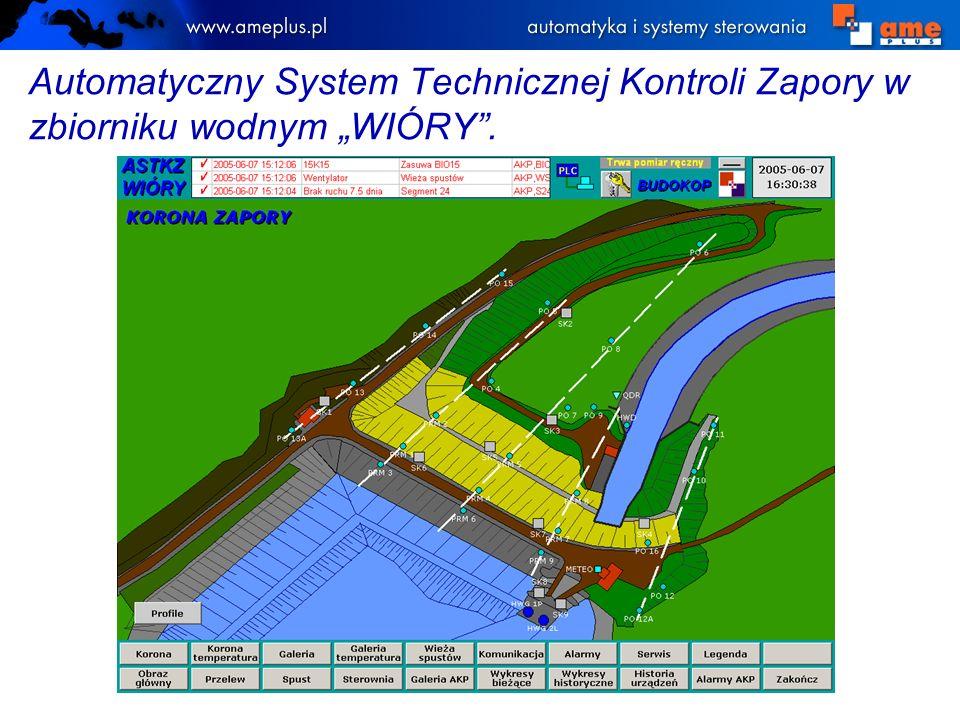 """Automatyczny System Technicznej Kontroli Zapory w zbiorniku wodnym """"WIÓRY ."""