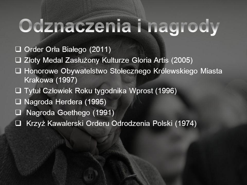 Odznaczenia i nagrody Order Orła Białego (2011)
