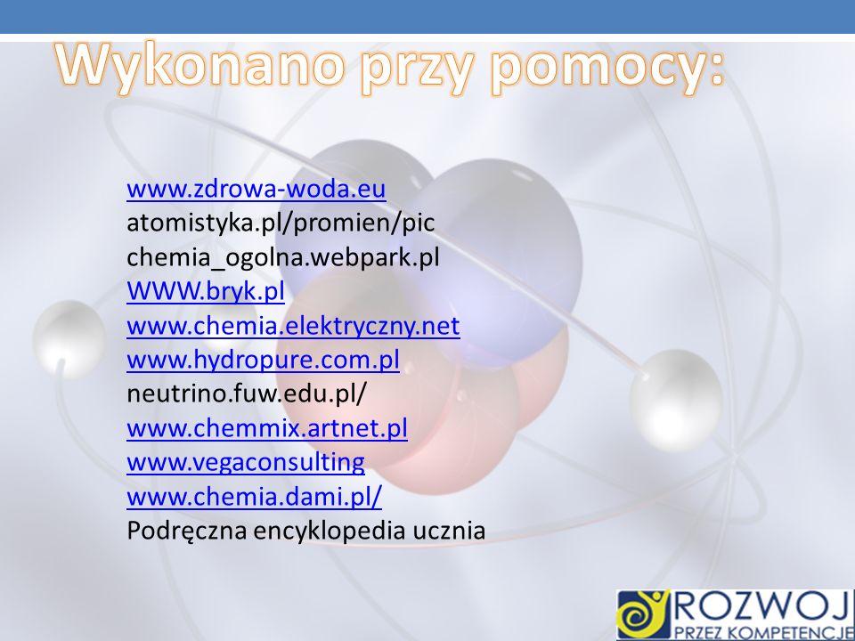 Wykonano przy pomocy: www.zdrowa-woda.eu atomistyka.pl/promien/pic