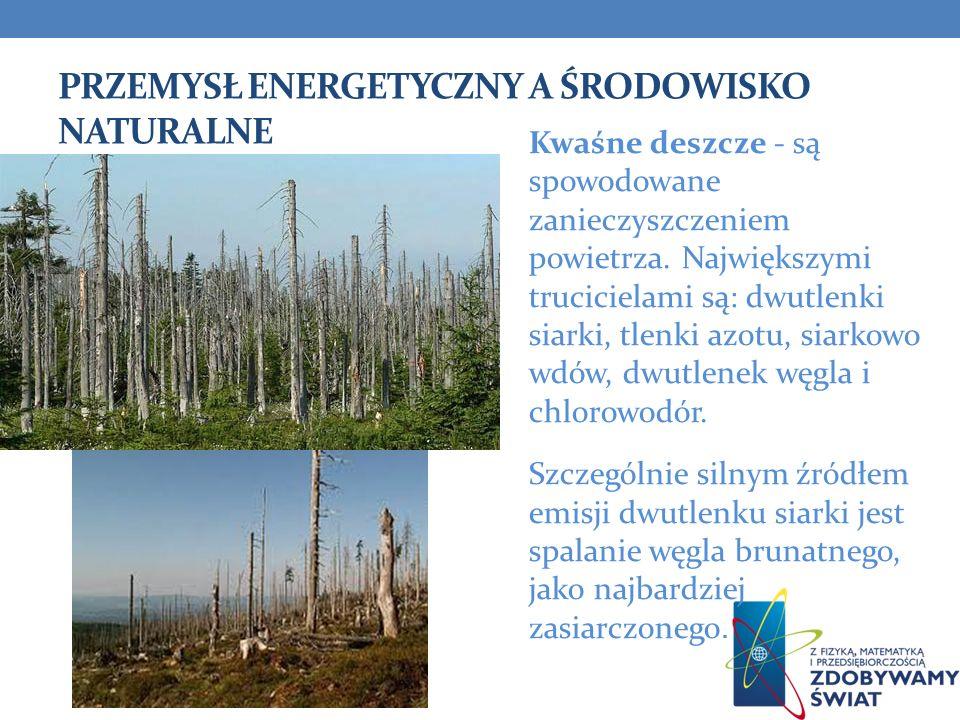 przemysł energetyczny a środowisko naturalne