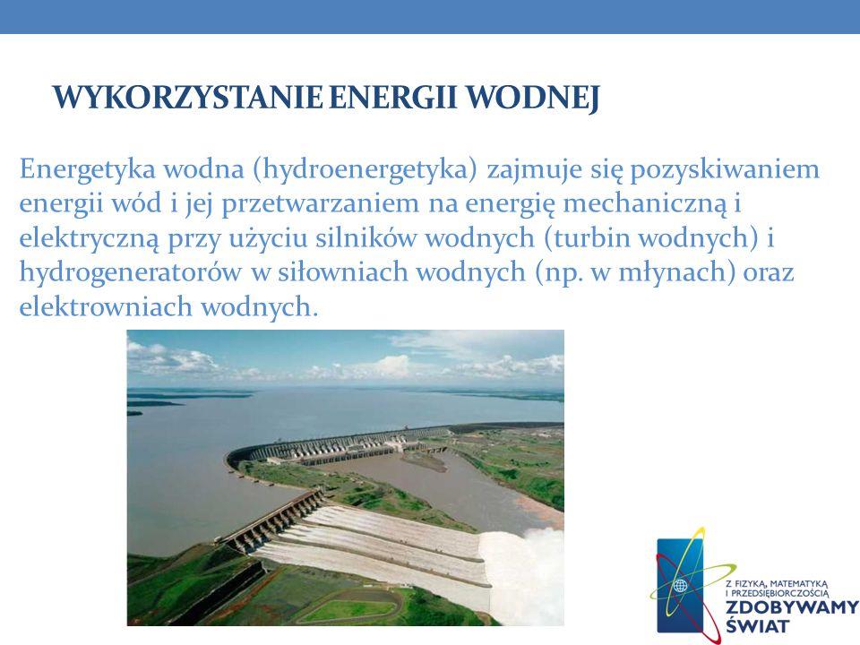 Wykorzystanie energii wodnej