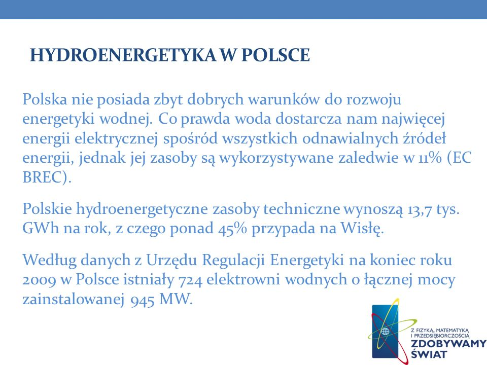Hydroenergetyka w Polsce