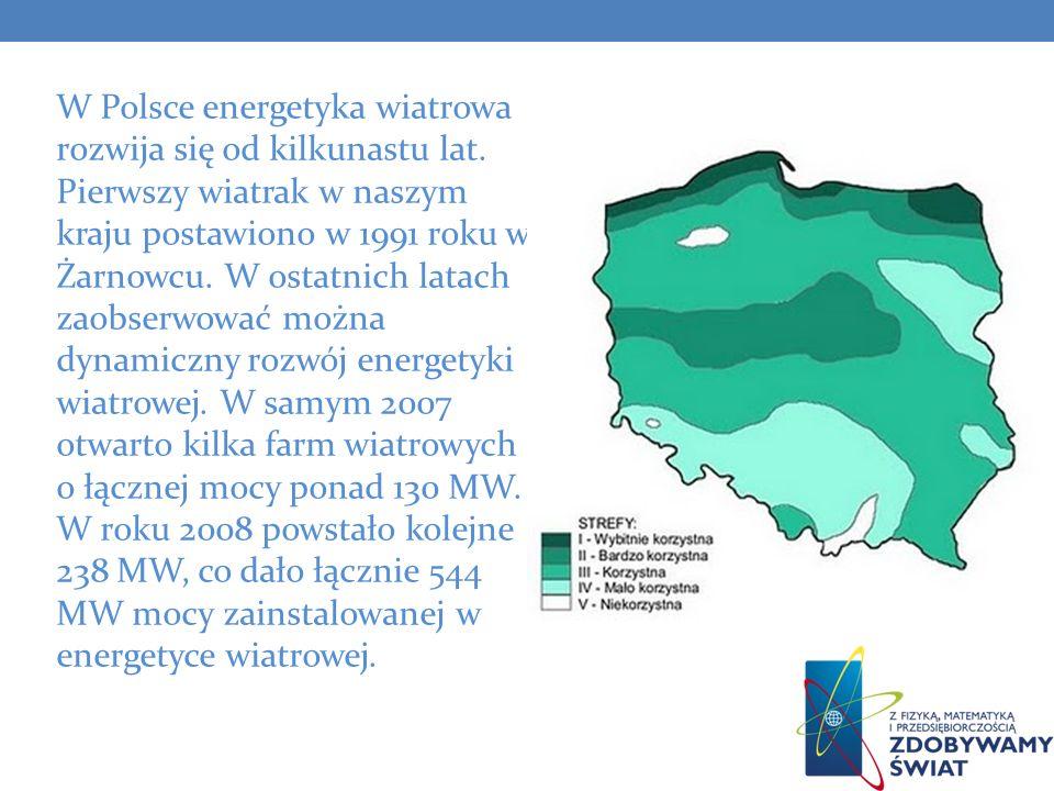 W Polsce energetyka wiatrowa rozwija się od kilkunastu lat
