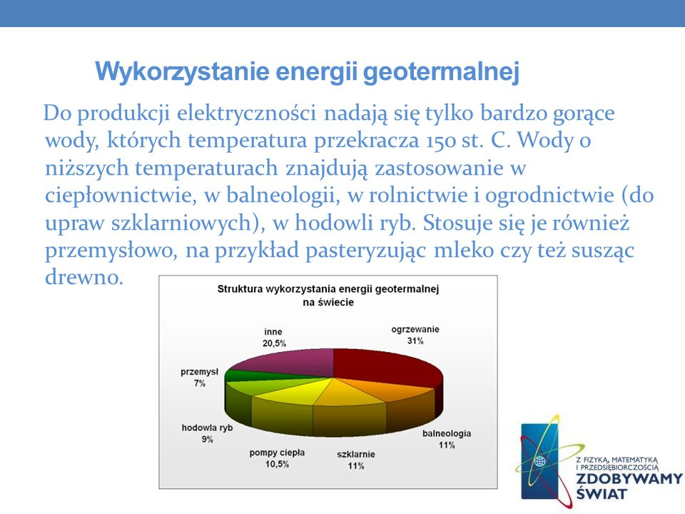 Wykorzystanie energii geotermalnej