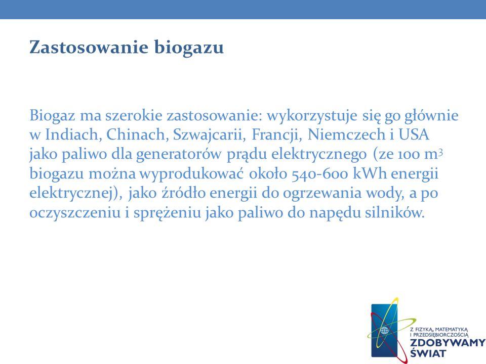 Zastosowanie biogazu