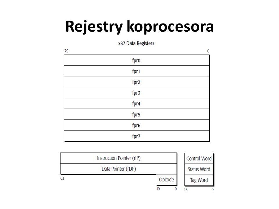 Rejestry koprocesora