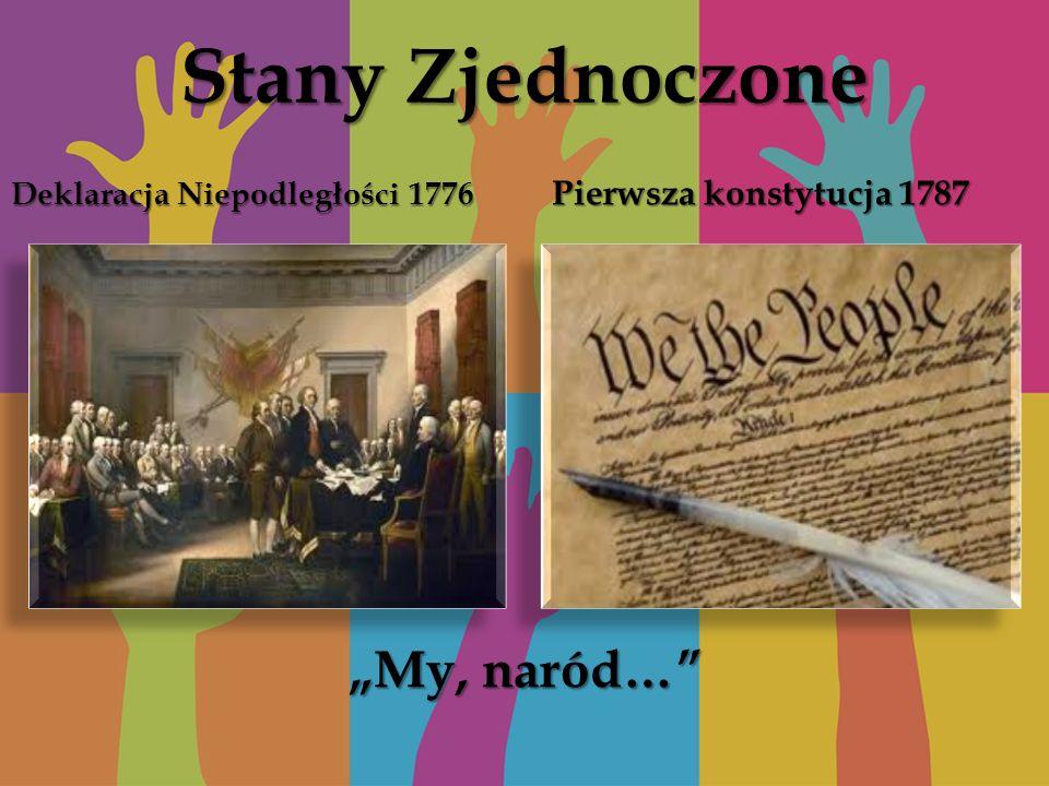 """Stany Zjednoczone """"My, naród… Pierwsza konstytucja 1787"""