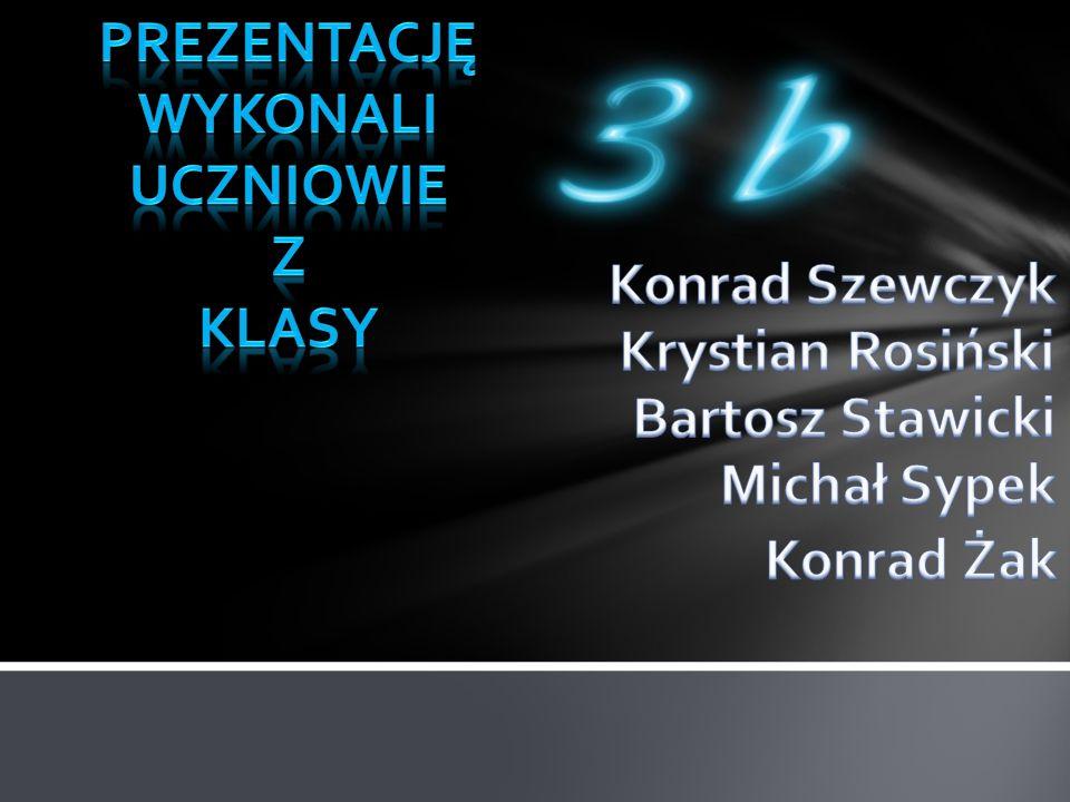 PrezentacjĘ wykonali Uczniowie. Z. Klasy. Konrad Szewczyk. Krystian Rosiński. Bartosz Stawicki.