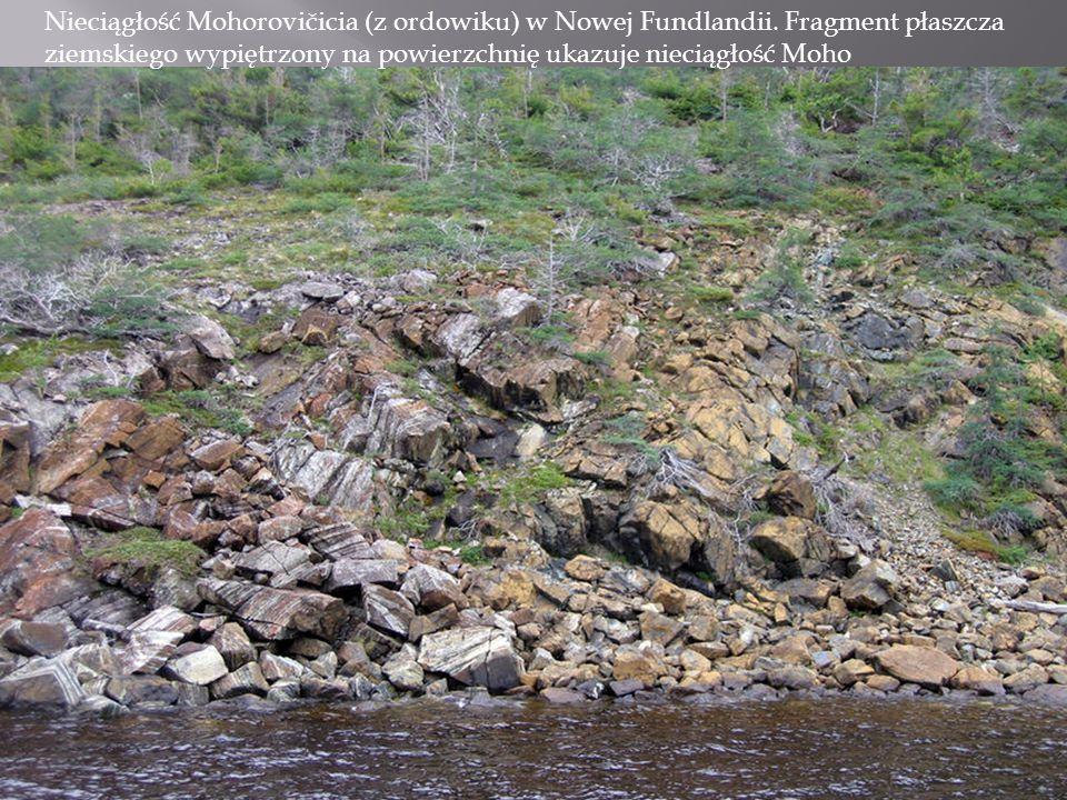 Nieciągłość Mohorovičicia (z ordowiku) w Nowej Fundlandii